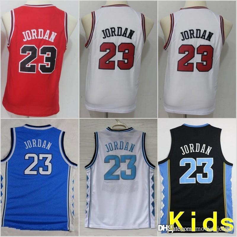 12faf3994849 2019 Youth Kids Chicago Michael  23 Bulls Jerseys North Carolina Tar Heels  Basketball Stitched Size S XL From Movie jersey
