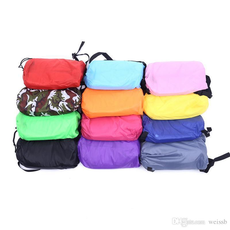 11 Colors Lounge Sleep Bag Lazy Inflatable Sofa Chair Lazy Bag Cushion Outdoor Self Inflated Sofa Furniture Sleeping Bags