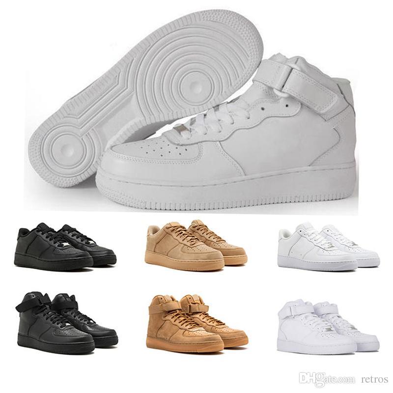 release date: f5bb8 2d303 Acquista Nike Air Force 1 Nuovo Uomo Basso Tutto Bianco Nero One Shoes  Vendita Calda Running Sneakers Scarpe Da Uomo Donna Classic Leisure 1 Da  Donna ...