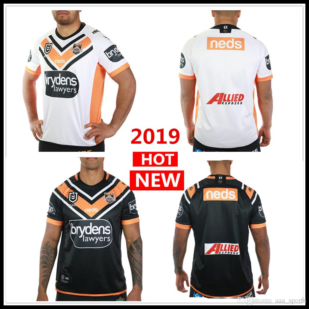 a82e6d76c 2019 2020 WESTS TIGERS Home Away JERSEY Rugby Jerseys NRL National Rugby  League Nrl Jersey Wests Tigers Shirt S-3xl Rugby Jerseys Jersey Shirt  Online with ...