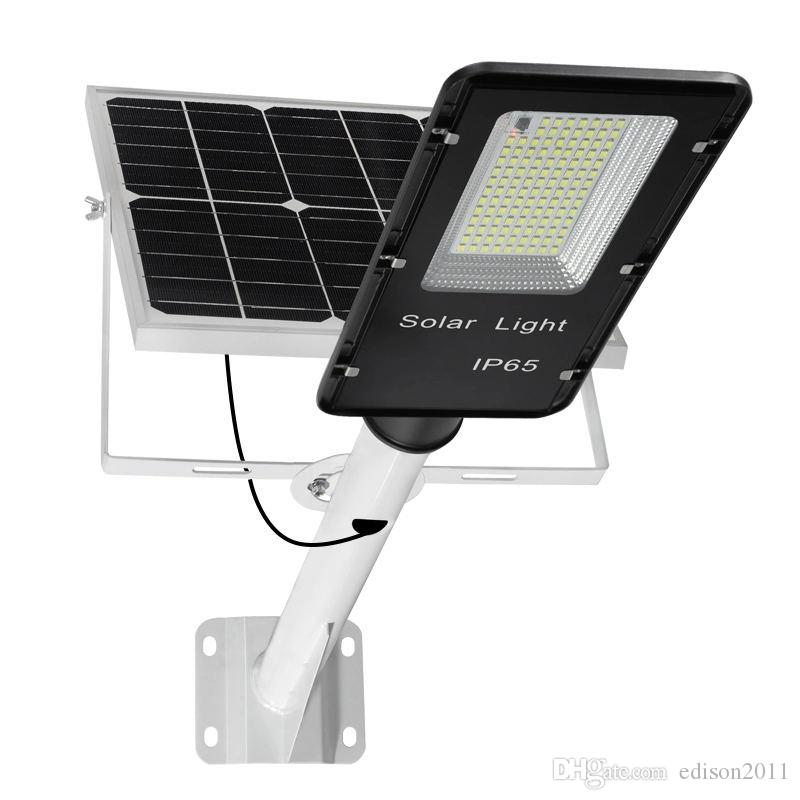 Edison2011 USA Ocean Freight T2 High Quality 150W 200W LED Solar Street Light Outdoor Waterproof Solar Flood Lamp Light Spotlight
