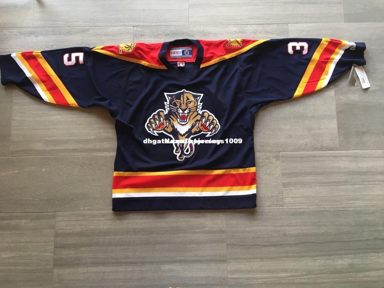 Cheap custom Alexander Auld #35 Florida Panther Jersey Personalized  customization Men s Retro ice Hockey jersey