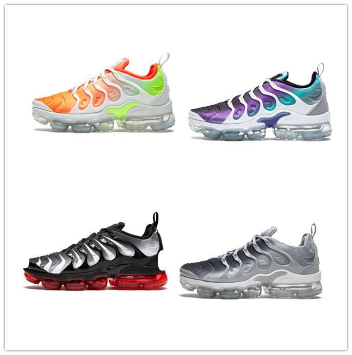 finest selection 8393d 35445 Acheter 2019 TN Plus Chaussures De Course Arc En Ciel Grapes Pour Hommes Et  Femmes Coucher De Soleil Tropical Ultra Blanc Noir Chaussures De Créateurs  ...