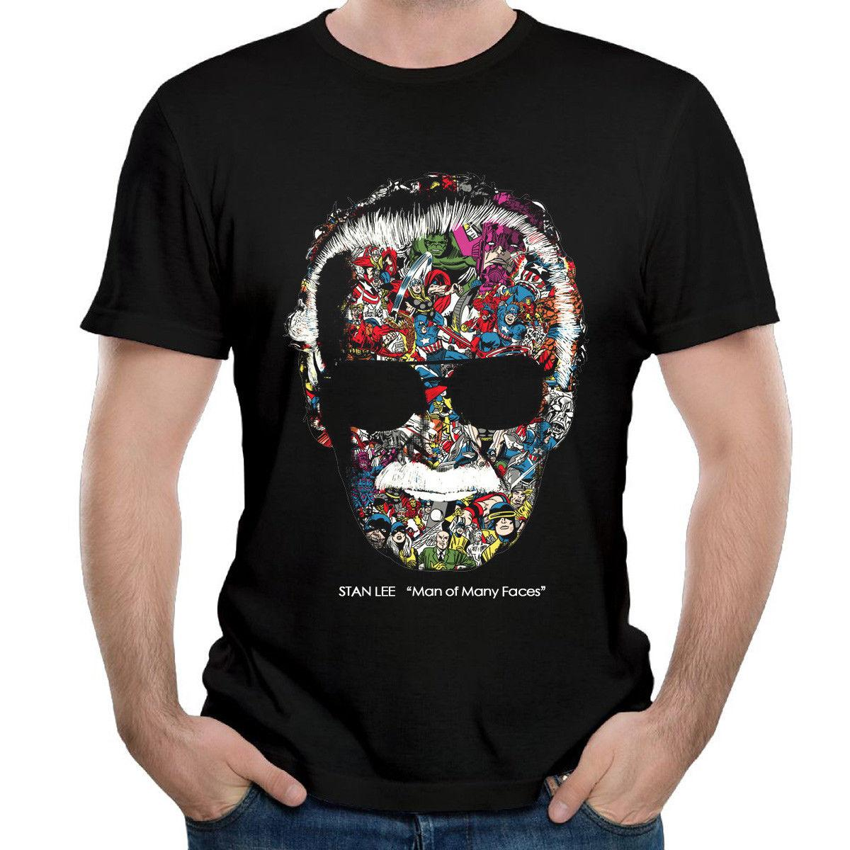 0c0978e6 Stan Lee Man Of Many Faces Tshirt Poster Mens Tshirt Black Youth Fashion  Crazy T Shirts Online Cool Looking T Shirts From Happytshirt53, $11.58|  DHgate.Com