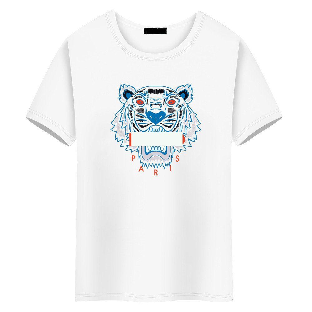 e7131406c061 Acquista 2019 Marchio Di Moda Di Lusso Top Designer Magliette Uomo Donna  Tshirt Donna S Vestiti Abbigliamento Palestra Tuta Sportiva T Shirt Testa  Di Tigre ...