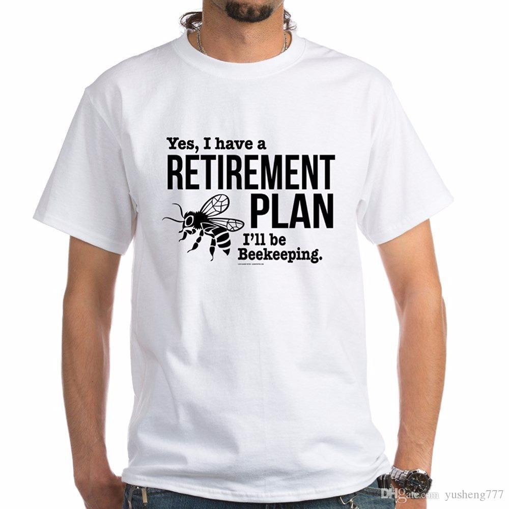 e5c11fc2365 Design Custom Shirts Short Sleeve Top Beekeeping Retirement T Shirt 100%  Cotton T Shirt White Crew Neck T Shirt For Men T Shirt Shop Design Crazy T  Shirts ...