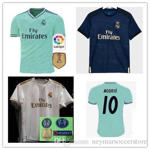hot sale online 20ce2 31f3a 19 20 real madrid champions league soccer jerseys 2019 2020 bale BENZEMA  MODRIC SERGIO RAMOS Camiseta de fútbol football shirts