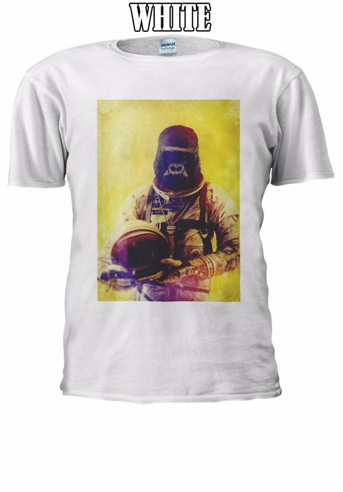 c83bb339 Astronaut Gorilla King Kong Space T Shirt Vest Tank Top Men Women Unisex  2455 Style Round Style Tshirt Tees Custom Jersey T Shirt T Shirt Designer  Graphic T ...