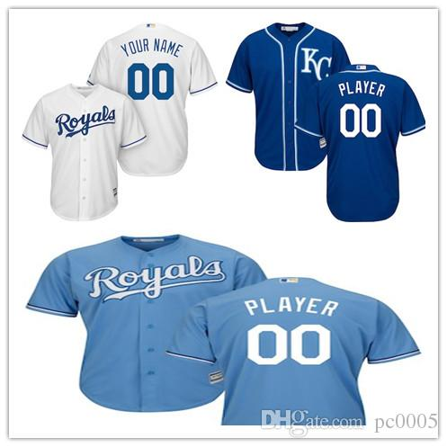 2d14ee498 2019 Men S Kansas City Royals Majestic Royal Light Blue White Home Cool Base  Custom Jersey From Pc0005