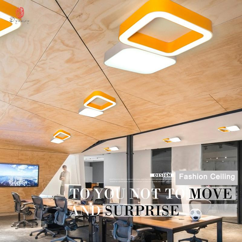 Großhandel Aluminium Quadratische Deckenleuchten Design LED Bunte ...