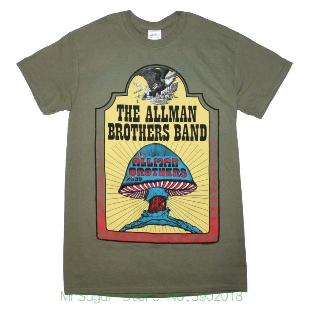 1319c2ff ... Allman Brothers Hell Yeah T Shirt Top Quality Cotton Casual Men T