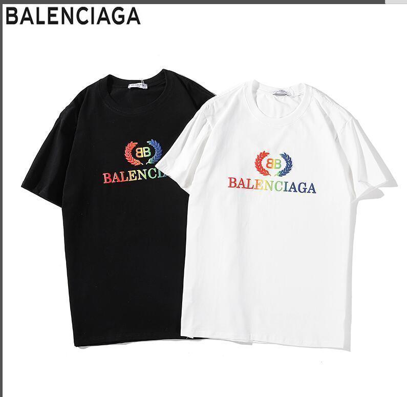 9a59beb825bb Gghh004 Palaces Splice High Quality Pure Cotton Shirt Men  s Short-sleeved T -shirt Brand Women men  s T-shirt Casual Brand T-shirt