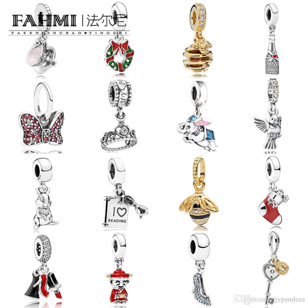 c56ffab5bad4e FAHMI 100% 925 Sterling Silver 1:1 Charm QUEEN BEE NECKLACE PENDANT SHINE  SWEET AS HONEY HANGING MY PRINCESS DRESS AND ENCHANTED TEA CUP