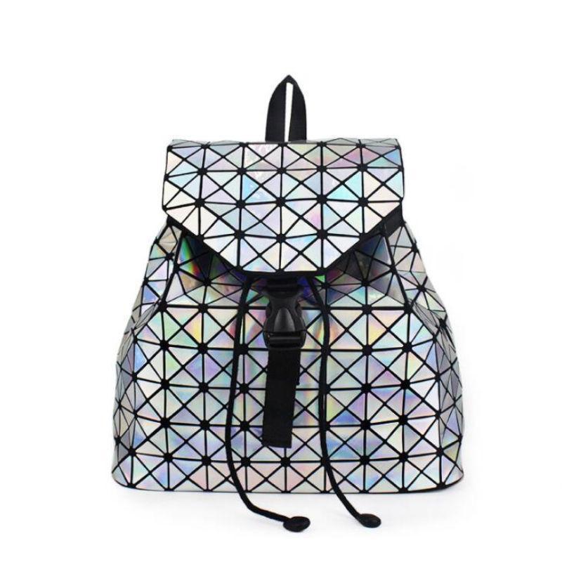 New Women Backpacks Hologram Laser Students School Bag Back Pack Geometric  Bao Bags For Teenage Girl Daily Drawstring Backpack Bags Rucksack From  Keeping05 04987bae9e987