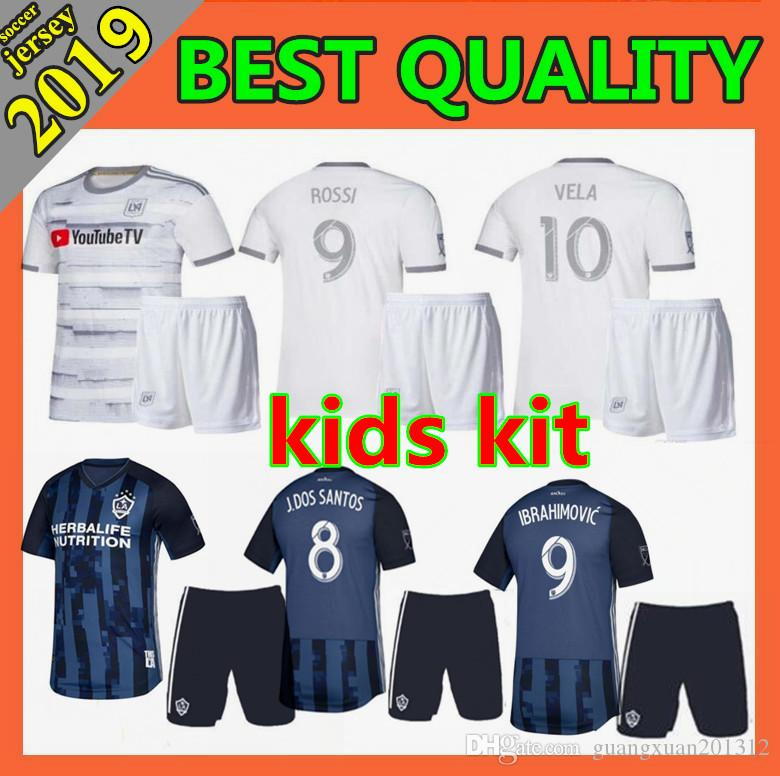2456824ac 2019 Kids Los Angeles Galaxy IBRAHIMOVIC Soccer Jerseys 2019 2020 LA Galaxy  LAFC Carlos Vela MLS Angeles GABER ROSSI ZIMMERMAN FC Football Shirts From  ...