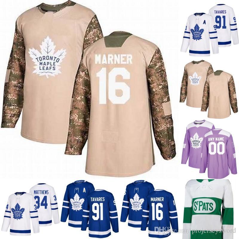 d9209d5865f 2019 Toronto Maple Leafs Jersey 11 Zach Hyman 8 Jake Muzzin 19 Nic Petan 16  Mitch Marner 31 Frederik Andersen 43 Nazem Kadri Hockey Jerseys From ...