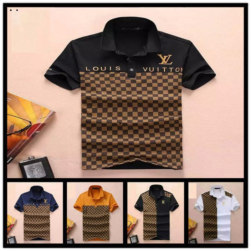 ba2a36391 2019 2019 Poloshirt Solid Polo Shirt Men Luxurious Polo Shirts Long Sleeve  Men S Basic Top Cotton Polos For Boys Brand Designers Polo From Yayute001