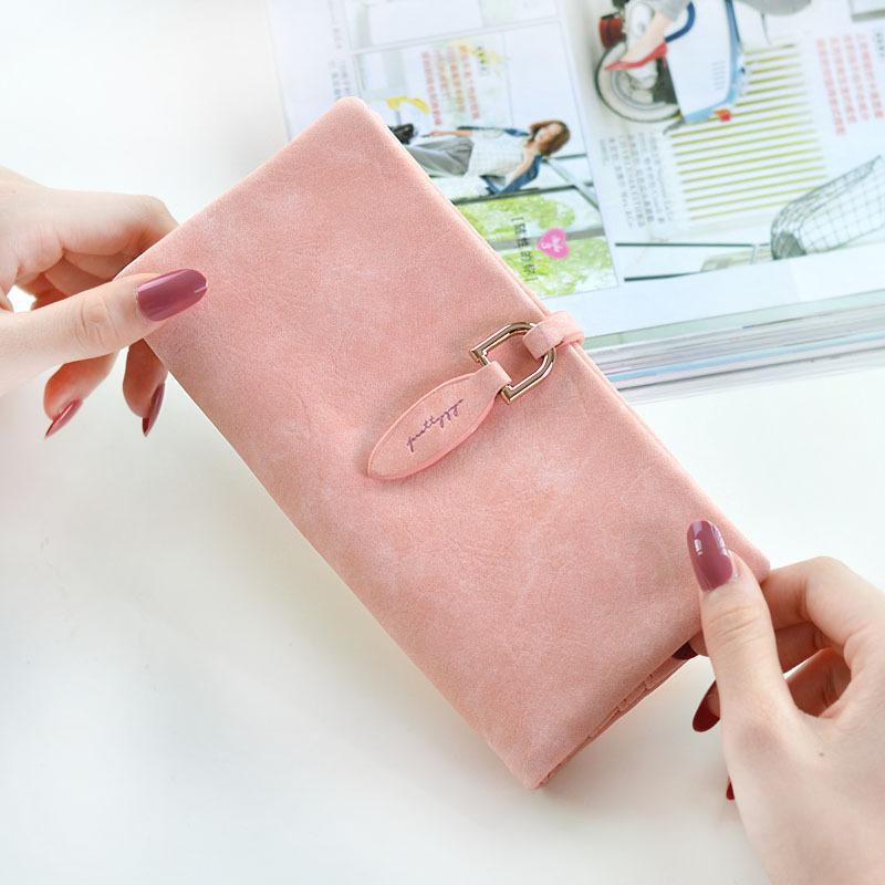 7ece278a7c6 2019 Latest Women Leather Leaf Long Wallet Female Coin Purse Change Clasp  Purse Money Bag Card Holders Womens Wallets And Purses