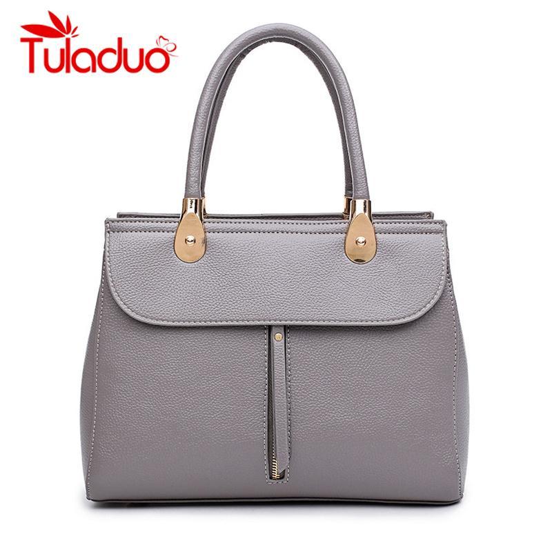 Female PU Leather Handbags Women Bag High Quality Casual Female Bags Trunk  Tote Spanish Brand Shoulder Bag Ladies Large Bolsos Fashion Bags Designer  ... d26a8d2131489
