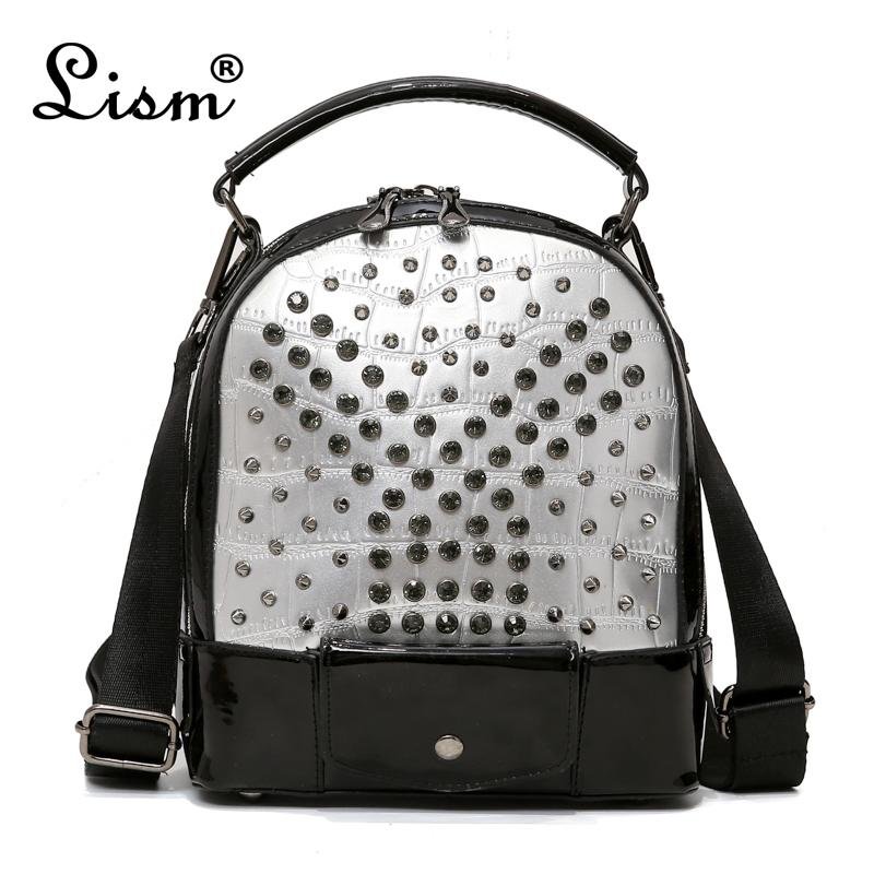 2018 New Student School Bags For Teenage Girls Women Punk Travel Bag  Backpacks Fashion Rivets Backpack Female Back Packs Rolling Backpacks From  Fabcollect, ... 9e5cc949d0