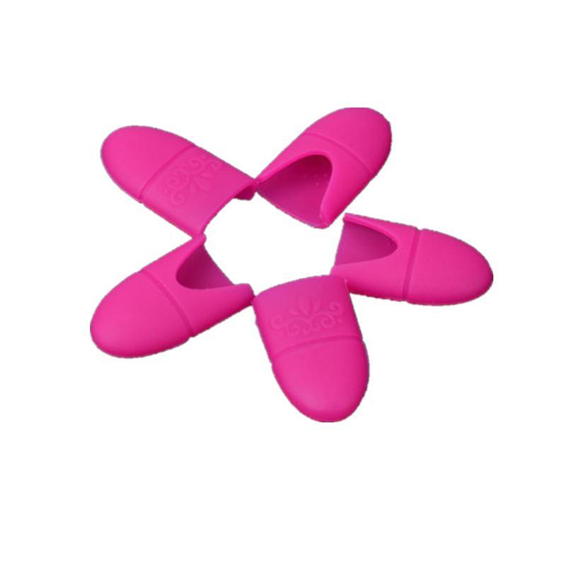 5 ADET Tırnak Sanat Plastik Jel Oje Çıkarıcı Kapalı Cap Cila silme UV Jel Lehçe Wrap Aracı Akışkan Klip Soak