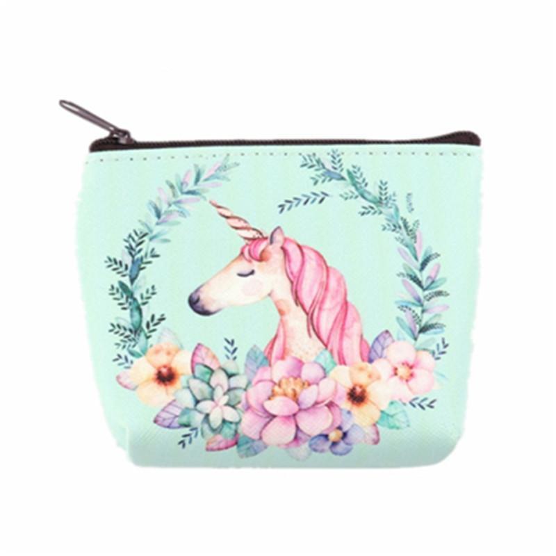 ded566450b22 Small Makeup Bags Women Unicorn Coin Purse Mini Bags Female Zipper Money  Pouch Clutch Keys Eyerphone Case Packs