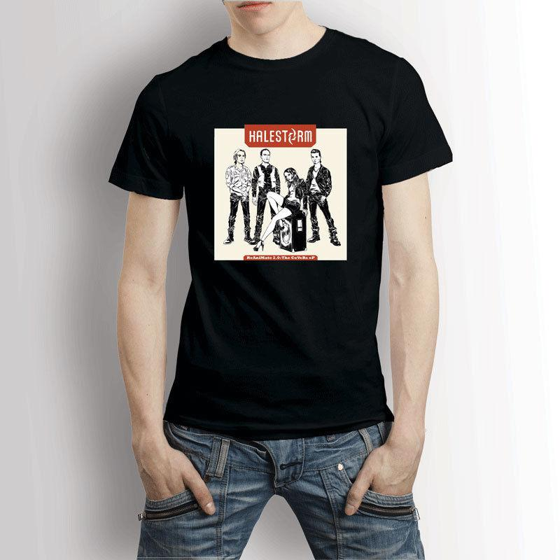 Halestorm ReAnimate 2.0 The Cover eP Men's T-Shirt TeeFunny free shipping Unisex Casual Tshirt