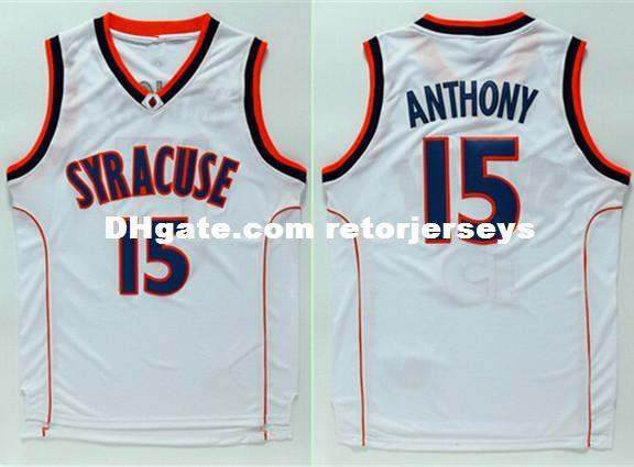 d2bc03a6d26 2019 Carmelo Anthony #15 Syracuse Orangemen College Men Basketball Jersey  XS 5XL Vest Jerseys NCAA From Retorjerseys, $26.73 | DHgate.Com