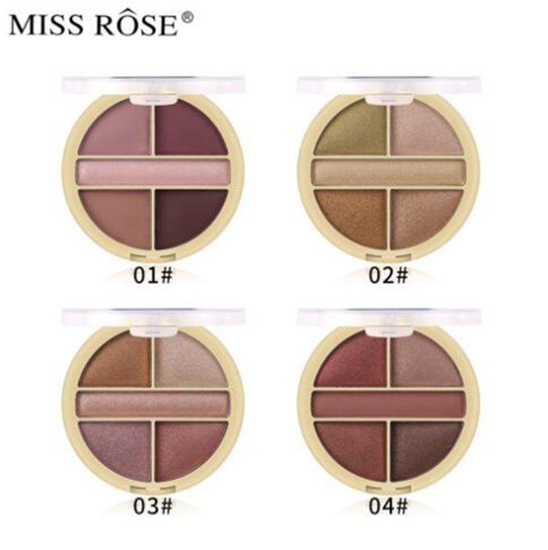 MISS ROSE Палитра теней для век 5 цветов Матовый блеск Обнаженная основа для теней для век Макияж Косметика Nake Профессиональные палитры теней