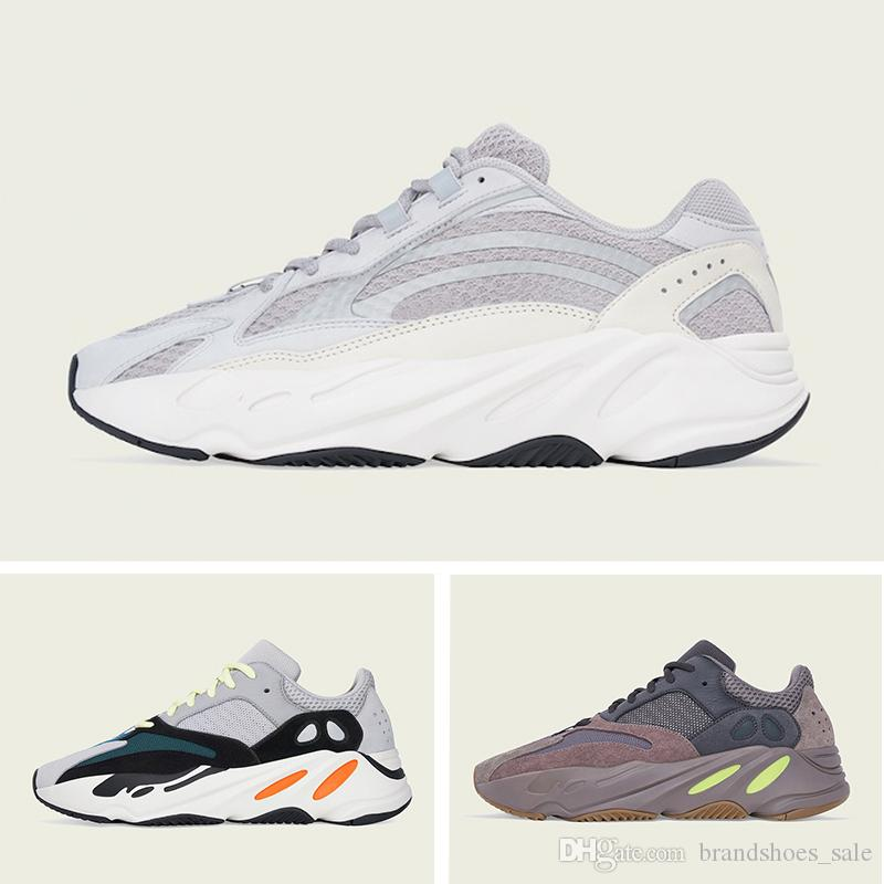 reputable site 46b0c 3f11a Compre Adidas Nuevo Yeezy 700 Boost Wave Runner Zapatillas Para Hombre  Mujer Static 3M Reflectante Mauve Multi Solid Gray Para Hombre Zapatillas  Deportivas ...