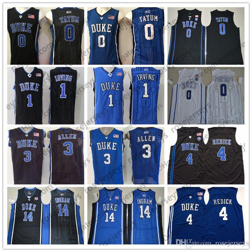 promo code 3569c 0c084 NCAA Duke Blue Devils #3 Allen 4 Redick 0 Tatum 14 Ingram 1 Irving Grayson  JJ Jayson Brandon Kyrie royal white black Jerseys