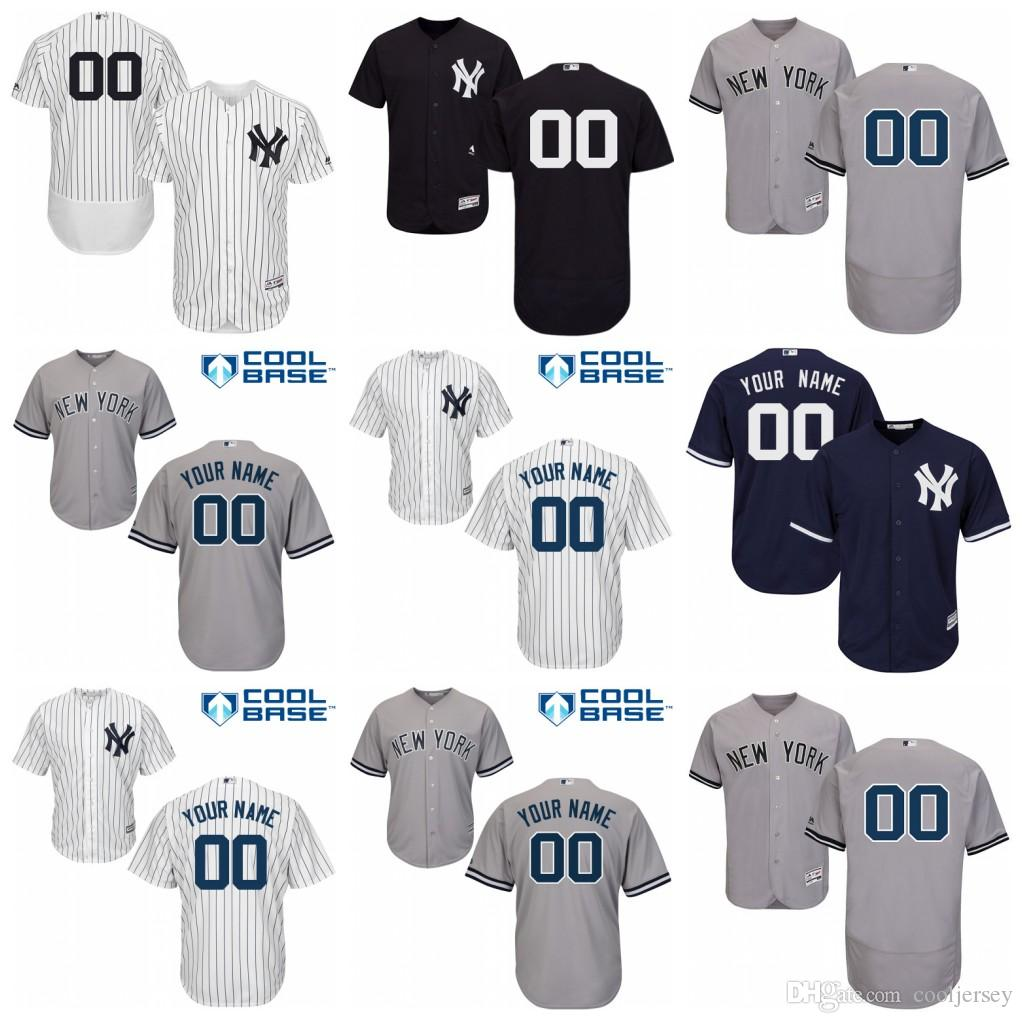 best value 260d2 9f6a5 Custom New York Yankees Jersey 2 Jeter Gregorius Sanchez Torres Giancarlo  Stanton Severino Aaron Judge Severino Stitched