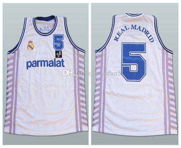 b9a8e6fc1 Compre Drazen Petrovic   5 Parmalat Real Madrid Baloncesto Retro ...