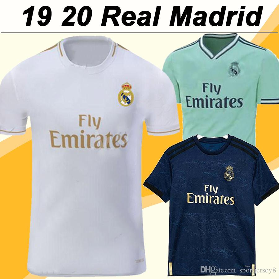 on sale fc38c e3c33 19 20 Real Madrid MODRIC BENZEMA Soccer Jerseys MARIANO SERGIO RAMOS KROOS  Home Away 3RD Mens Football Shirts ISCO BALE Short Sleeve Uniform