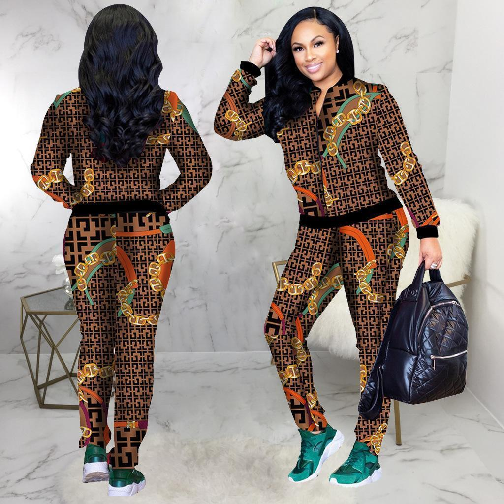 f4b18642505 2019 Hot 2019 Winter Money Standard Code Heat Pin Sexy Fashion Trend  Digital Printing Suit Two Piece Set From Xcq0318