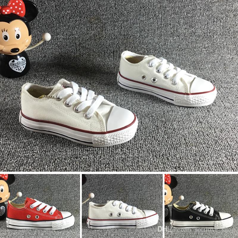 1f2be579f Compre Converse Marca Especial Para Niños Zapatos De Lona De Moda  Zapatillas De Deporte Altas Para Niños