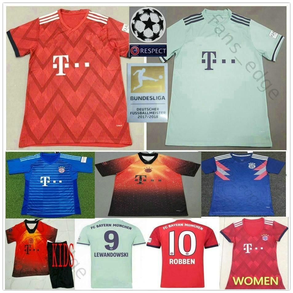 22debabcb991b Compre 2019 Bayern De Munique JAMES LEWANDOWSKI ROBBEN MULLER KIMMICH  Personalizado 19 20 Casa Fora Homens Mulheres Crianças Juventude Camisa De  Futebol De ...