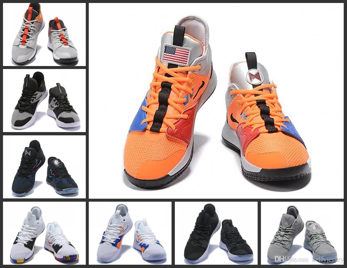 new arrival 30a49 26ceb High quality Paul Mens George PG 3 x EP Palmdale PlayStation Basketball  Shoes PG3 3s Sports Sneakers