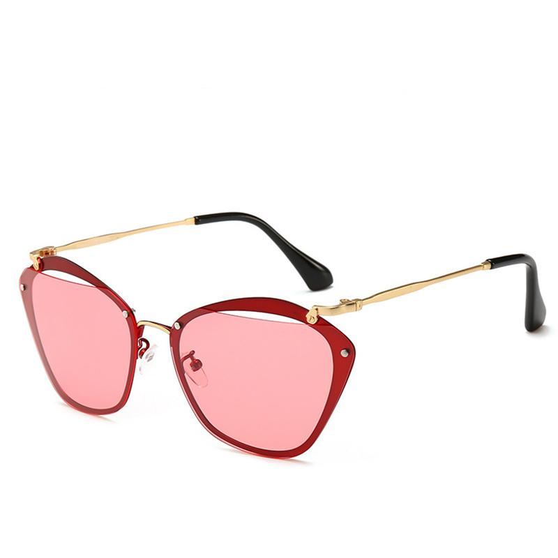 689cca1ced Compre 2019 Marcas Famosas Gafas De Sol De Alta Calidad Protección UV Moda  Gafas De Lujo Cat Eye Gafas De Moda Gafas De Sol De Diseñador A $15.23 Del  ...