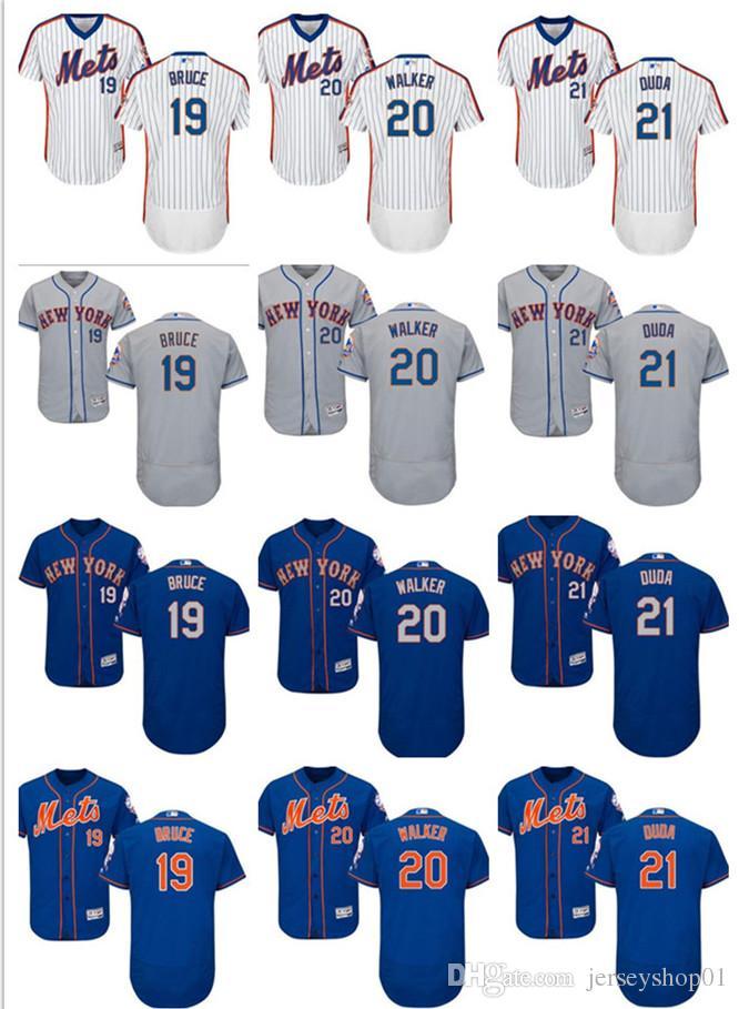 f2317d25b 2018 2018 Custom Men S Women Youth Majestic New York Mets Jersey  20 Neil  Walker 21 Lucas Duda 19 Jay Bruce Home Blue White Kids Baseball Je From ...