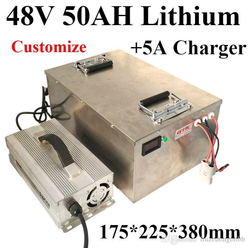 Lithium Ion Car Battery >> 50ah 48v Lithium Ion Battery Charger 5a 48v 50ah Lithium Battery For