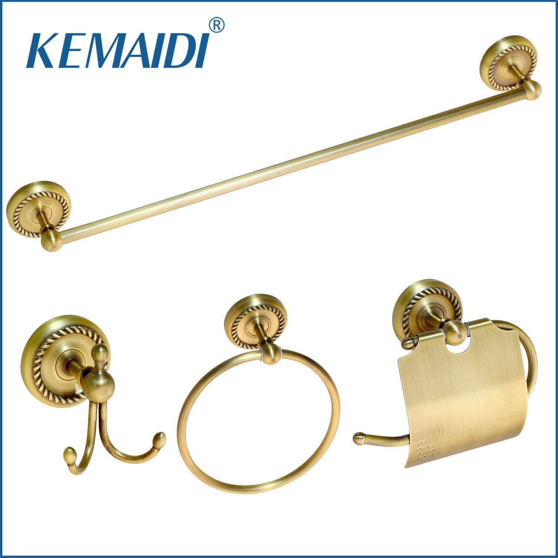 2019 Kemaidi Antique Brass Bathroom Accessories Robe Hook Paper