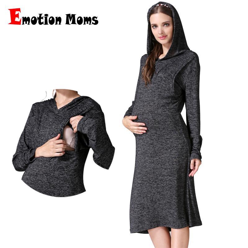 6015a92db Compre Ropa De Maternidad Embarazo Vestido De Moda Vestido De Lactancia  Materna Para Mujeres Embarazadas Ropa Otoño Suave De Enfermería A  49.94  Del ...