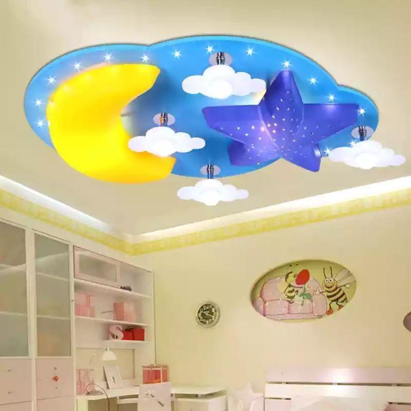 Großhandel Kreative Cartoon Star Moon Led Lampe Kinderzimmer ...