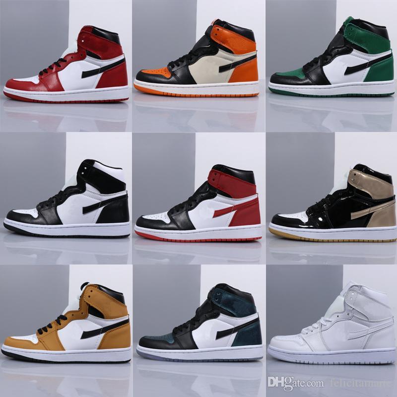 2019 New 1 High OG Basketball Shoes Cheap Royal Banned Bred Off Black White  Blue Retro Toe Men Women Air 1s Backboard Presto Sneakers From  Felicitamarte 16d3c14046