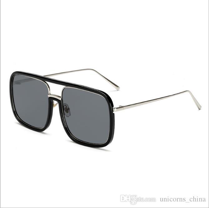 14cc0e1cd0fbd Compre Óculos De Sol De Design Da Marca Unisex Retro Googles Quadrados  Steampunk Uv400 Óculos De Proteção Ao Ar Livre Eyewear 8 Cores Cny37 De ...