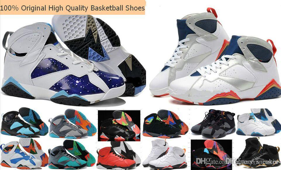 the latest 32283 00ccd 2019 High Quality 7 7s Bordeaux Hare Olympic Tinker Alternate Men  Basketball Shoes Hot Sale Sweater UNC French Blue GMP Raptor Sneakers 36 47  From ...