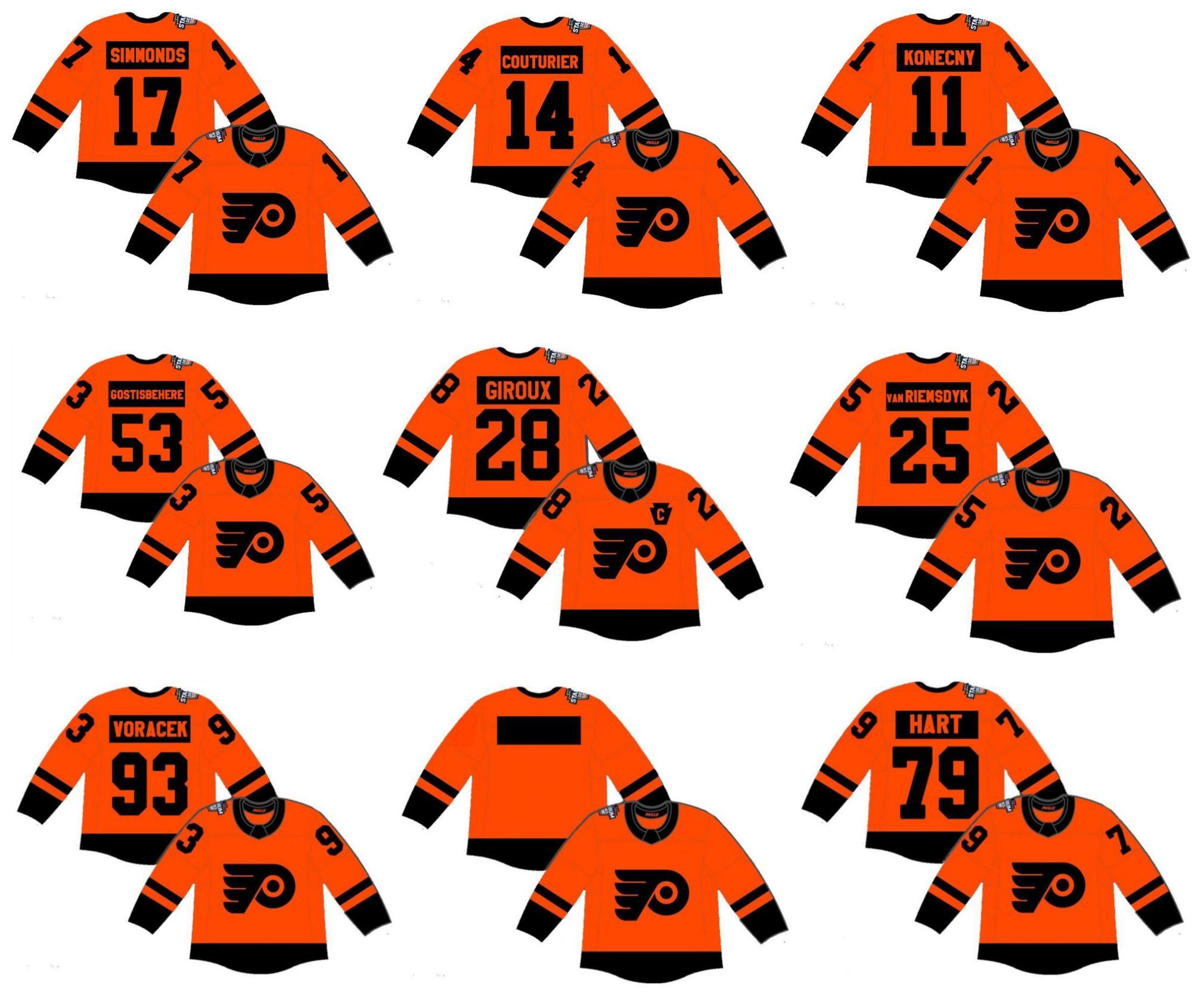 2019 Stadium Series Philadelphia Flyers Jersey 79 Carter Hart 19 Nolan  Patrick Wayne Simmonds Claude Giroux Shayne Gostisbehere Voracek Wholesale  Hockey ... 2e572b97c