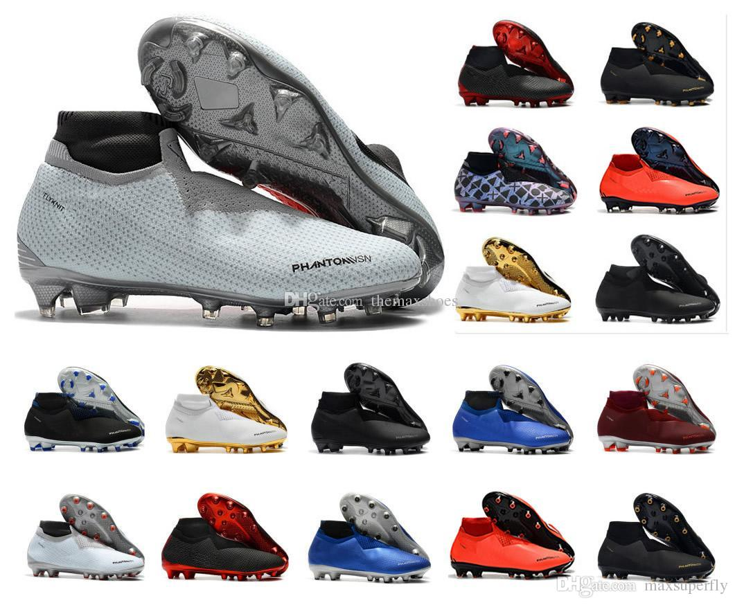 c3526e19a51 Hot Phantom VSN Vision Elite DF FG   AG Game Over Shadow Mens High Ankle Soccer  Cleats Football Shoes Size US6.5 11 UK 2019 From Maxsuperfly