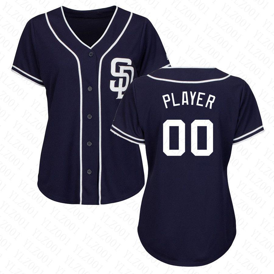 641ee76fe 2019 Womens Manny Machado Jersey Custom Padres Stitched Eric Hosmer ...